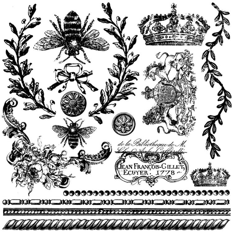 Have fun adding texture to your projects with these fun Iron Orchid Designs - Queen Bee Decor Stamps   www.raggedy-bits.com   #raggedybits #IOD #DecorStamps #queenbee #texture