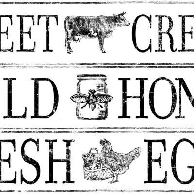 Have fun adding texture to your projects with these Iron Orchid Designs Decor Transfers - Farm Fresh Signage | www.raggedy-bits.com | #raggedybits #IOD #DecorTransfers #FarmFreshSignage #texture