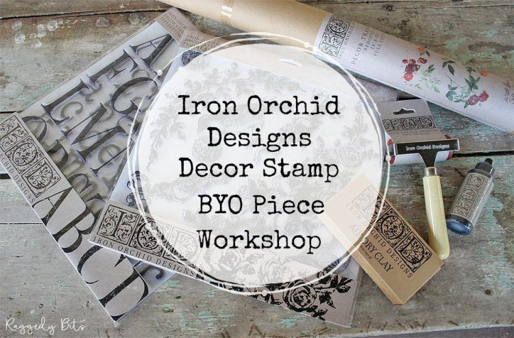 Come along and have some fun at our Iron Orchid Designs Decor Stamp BYO Peice Workshop. The workshop will teach you from prep to finish on how to complete a small piece of furniture using Miss Mustard, Fusion Mineral Paint or Sweet Pickins Milk Paint to paint your piece and then learn how to apply Iron Orchid Design Decor Stamps to your finished piece. All materials supplied plus a yummy lunch is included | www.raggedy-bits.com | #workshop #raggedybits #mmsmilkpaint #sweetpickinsmilkpaint #byo #piece #IronOrchidDesigns #DecorStamps