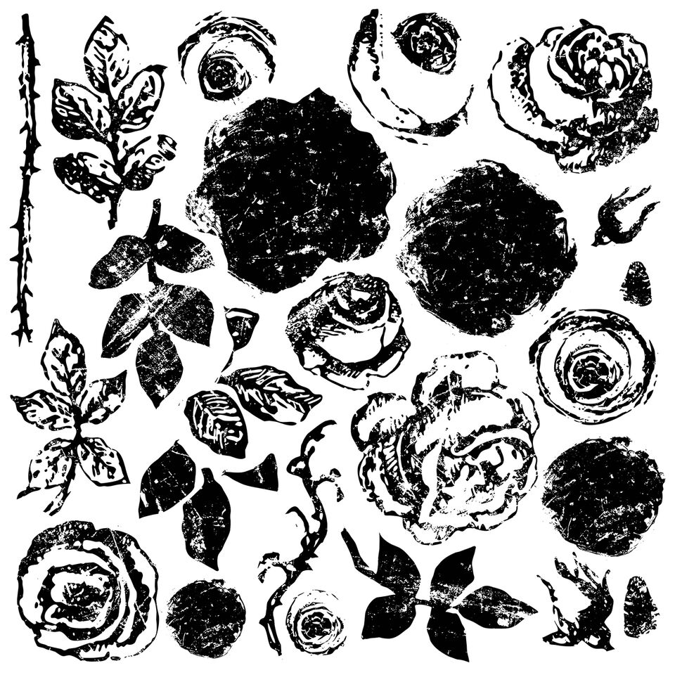 Have fun adding texture to your projects with these fun Iron Orchid Designs - Painterly Roses Decor Stamps | www.raggedy-bits.com | #raggedybits #IOD #DecorStamps #PainterlyRoses #texture