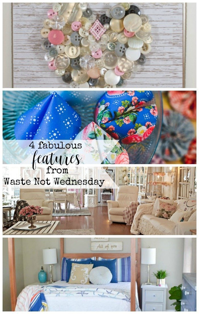 Features from our fun Waste Not Wednesday-141 DIY, Craft, Home Decor and Recipe party this week! Be sure to join us and share your DIY, Craft, Home Decor and favourite recipes! | www.raggedy-bits.com | www.mythriftyhouse.com | www.salvagesisterandmister.com | www.faeriesandfauna.com #WasteNotWednesday #DIY #HomeDecor #Craft #Recipes