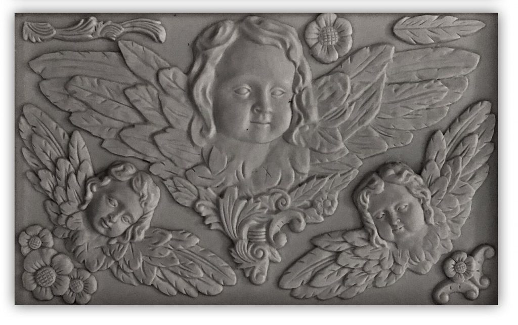 Have fun adding texture to your projects with these Iron Orchid Designs Decor Moulds - Classic Cherubs | www.raggedy-bits.com | #raggedybits #IOD #Classic Cherubs #texture #DIY #Moulds