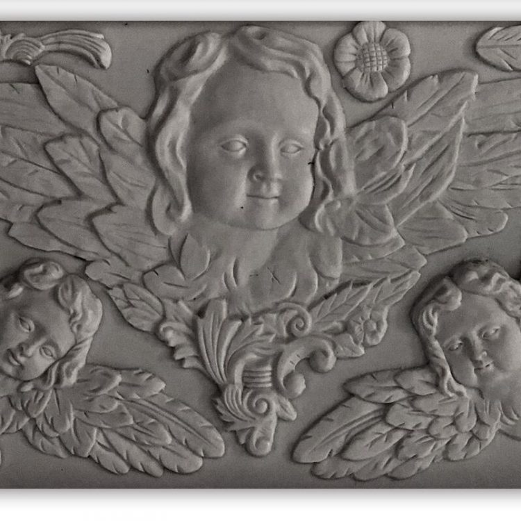 Have fun adding texture to your projects with these Iron Orchid Designs Decor Moulds - Classic Cherubs   www.raggedy-bits.com   #raggedybits #IOD #Classic Cherubs #texture #DIY #Moulds