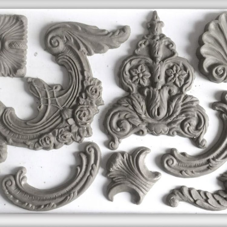 Have fun adding texture to your projects with these Iron Orchid Designs Decor Moulds - Classic Elements   www.raggedy-bits.com   #raggedybits #IOD #Classic Elements #texture #DIY #Moulds