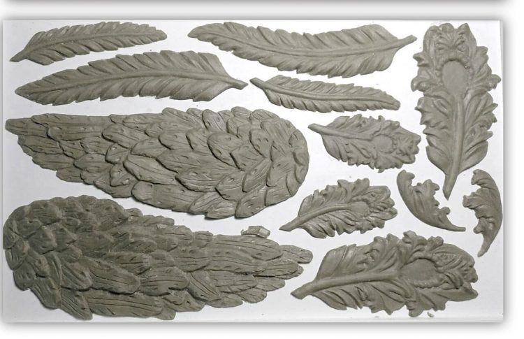 Have fun adding texture to your projects with these Iron Orchid Designs Decor Moulds -Wings And Feathers | www.raggedy-bits.com | #raggedybits #IOD #WingsAndFeathers #texture #DIY #Moulds