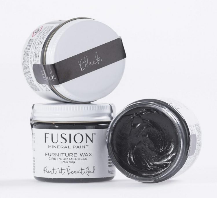 Fusion Mineral Paint - Furniture Wax - Black Wax | www.raggedy-bits.com