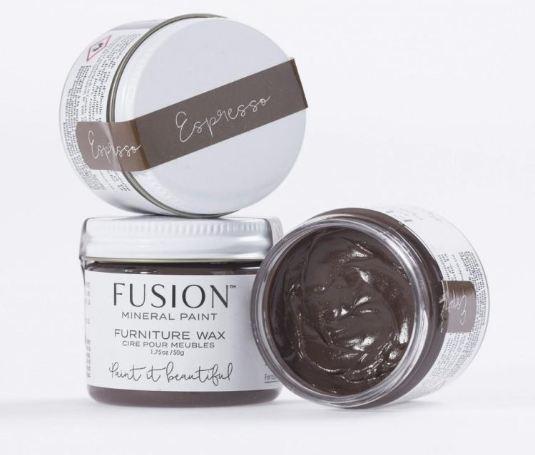 Fusion Mineral Paint - Furniture Wax - Espresso Wax | www.raggedy-bits.com