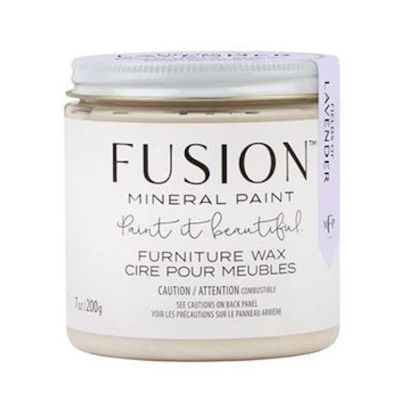 Fusion Mineral Paint - Fields Of Lavender Furniture Wax   www.raggedy-bits.com   #raggedybits #fusionmineralpaint #DIY #furniturepaint