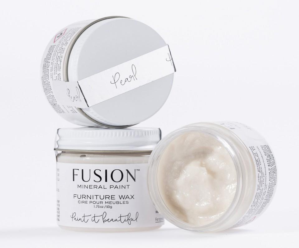 Fusion Mineral Paint - Furniture Wax - Pearl Wax | www.raggedy-bits.com
