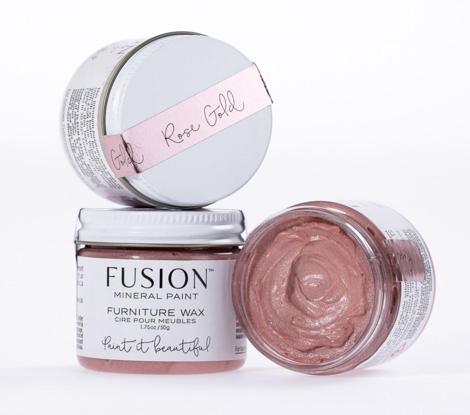 Fusion Mineral Paint - Furniture Wax - Rose Gold Wax | www.raggedy-bits.com