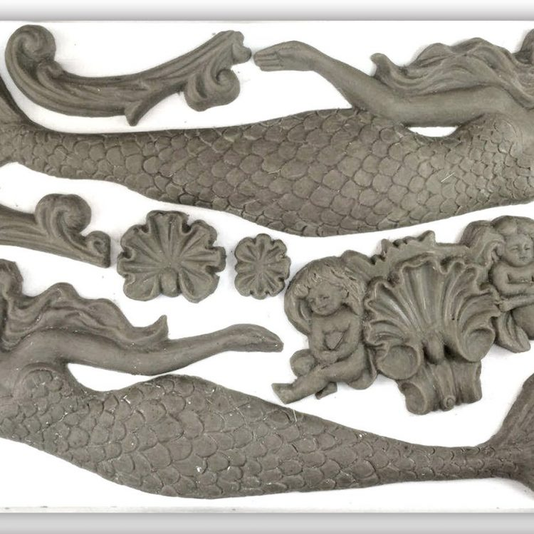 Have fun adding texture to your projects with these Iron Orchid Designs Decor Moulds -Sea Sisters | www.raggedy-bits.com | #raggedybits #IOD #SeaSisters #texture #DIY #Moulds