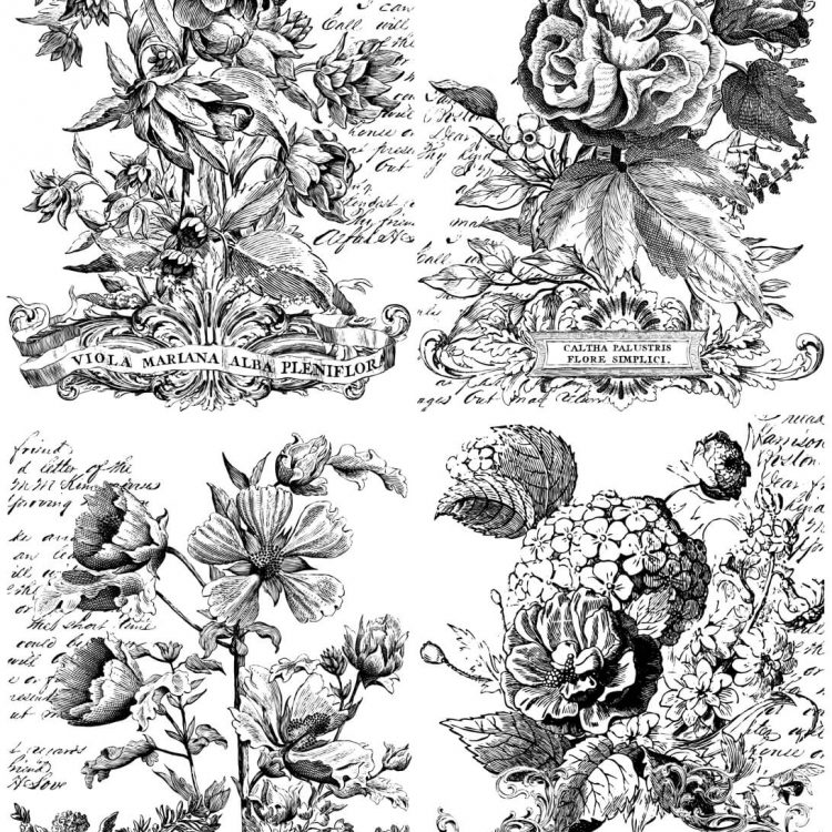 Have fun adding texture to your projects with these Iron Orchid Designs Decor Transfers - Classic Bouquet | www.raggedy-bits.com | #raggedybits #IOD #DecorTransfers #ClassicBoquet #texture