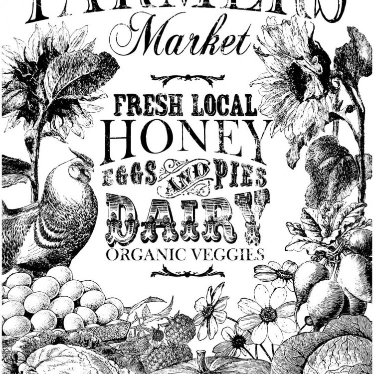Have fun adding texture to your projects with these Iron Orchid Designs Decor Transfers - Farmers Market   www.raggedy-bits.com   #raggedybits #IOD #DecorTransfers #FarmersMarket #texture
