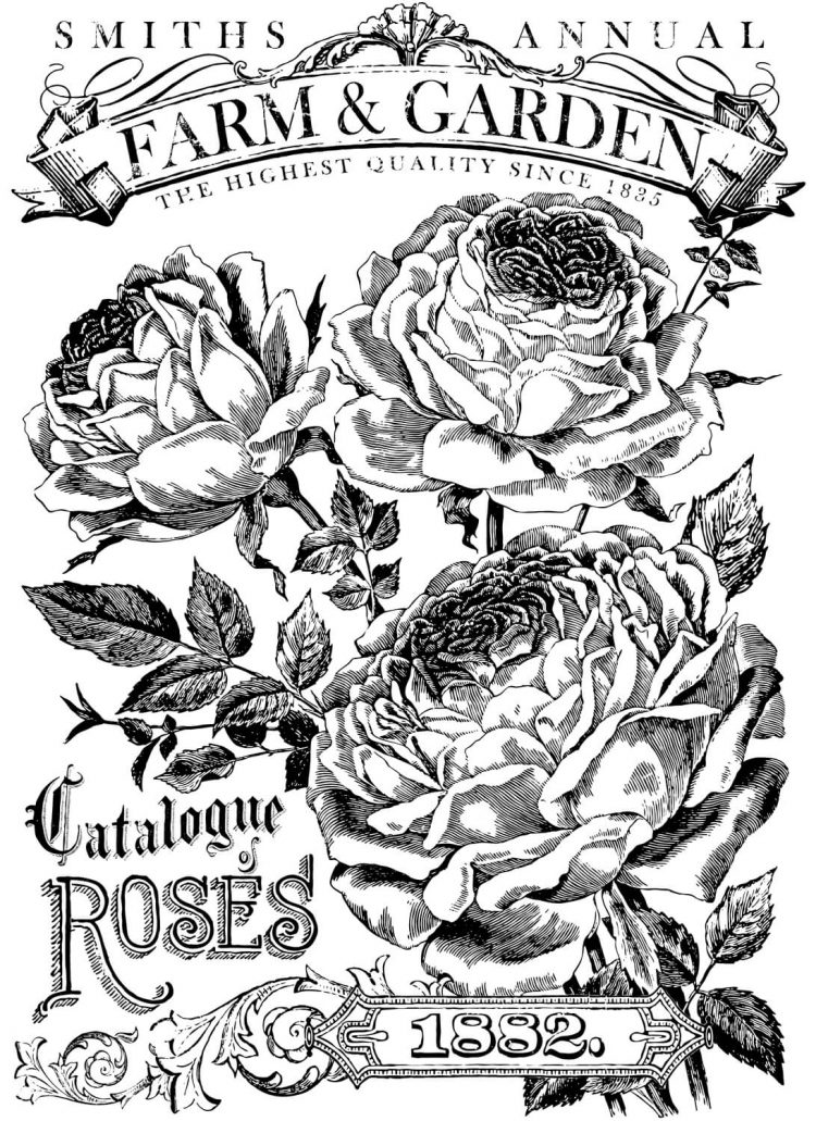 Have fun adding texture to your projects with these Iron Orchid Designs Decor Transfers - Catalogue Of Roses | www.raggedy-bits.com | #raggedybits #IOD #DecorTransfers #CatalogueOfRoses #texture