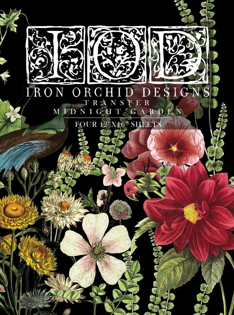 Have fun adding texture to your projects with these Iron Orchid Designs Decor Transfers - Midnight Garden   www.raggedy-bits.com   #raggedybits #IOD #DecorTransfers #MidnightGarden #texture