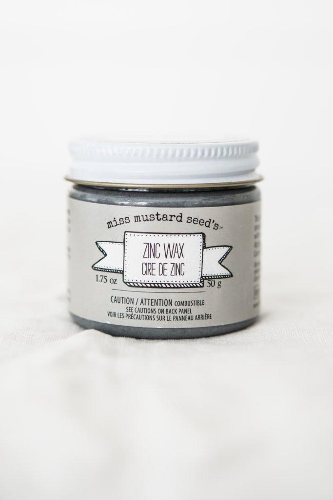 Miss Mustard Seed Milk Paint - Zinc Wax | www.raggedy-bits.com