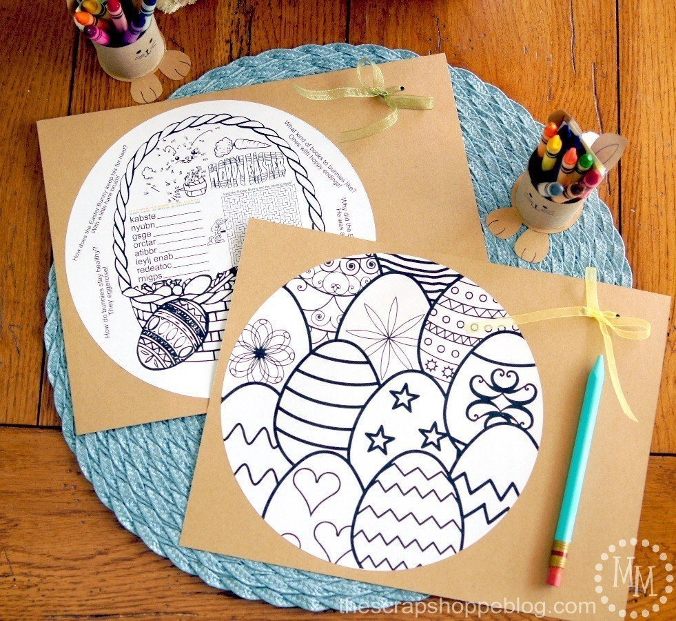 Easter Activity Sheets which is a feature for Waste Not Wednesday-145 by The Scrap Shoppe | www.raggedy-bits.com