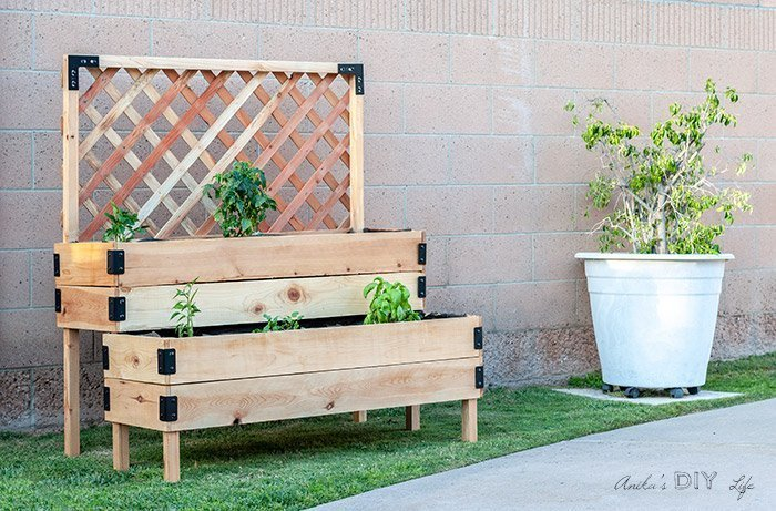 DIY Tiered Raised Garden Bed which is a feature for Waste Not Wednesday-150 by Anika's DIY Life   www.raggedy-bits.com