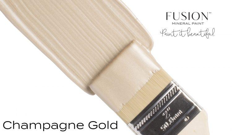 Fusion Mineral Paint Brushstroke - Metallic Champagne Gold   www.raggedy-bits.com