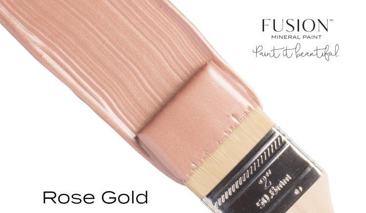Fusion Mineral Paint Brushstroke - Metallic Rose Gold | www.raggedy-bits.com