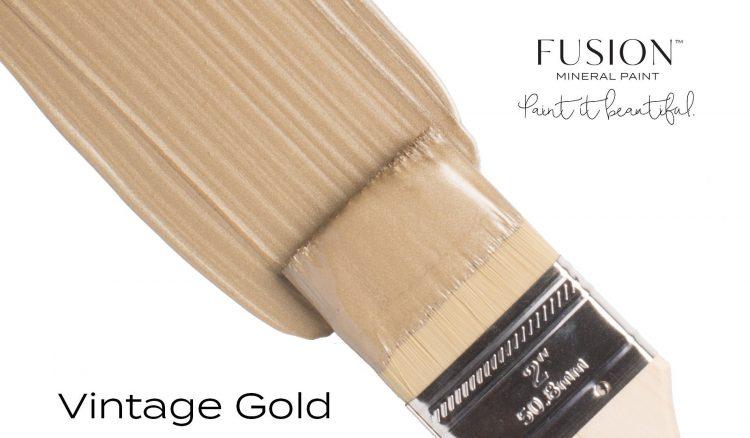 Fusion Mineral Paint Brushstroke - Metallic Vintage Gold | www.raggedy-bits.com
