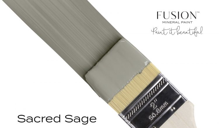 Fusion Mineral Paint Brushstroke - Sacred Sage   www.raggedy-bits.com
