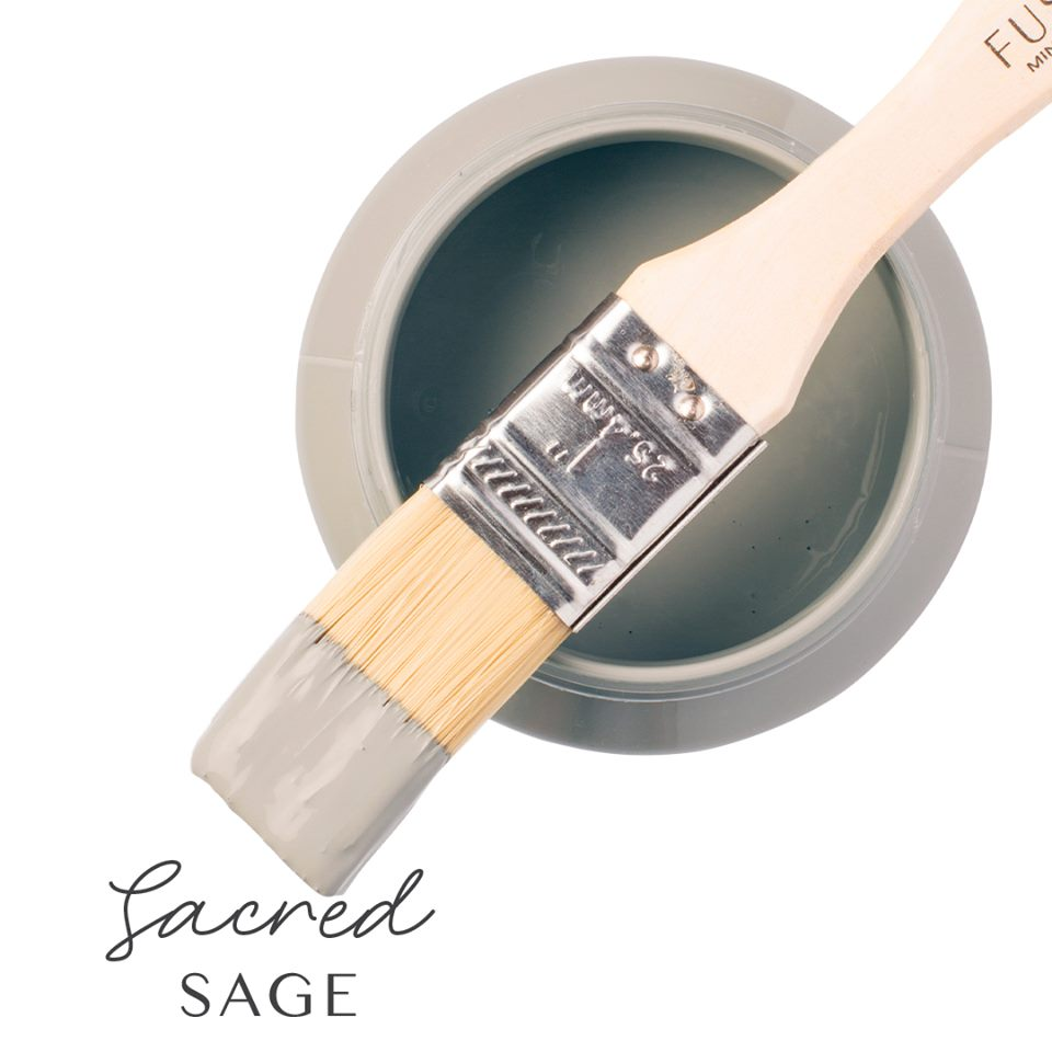 Fusion Mineral Paint - Sacred Sage | www.raggedy-bits.com