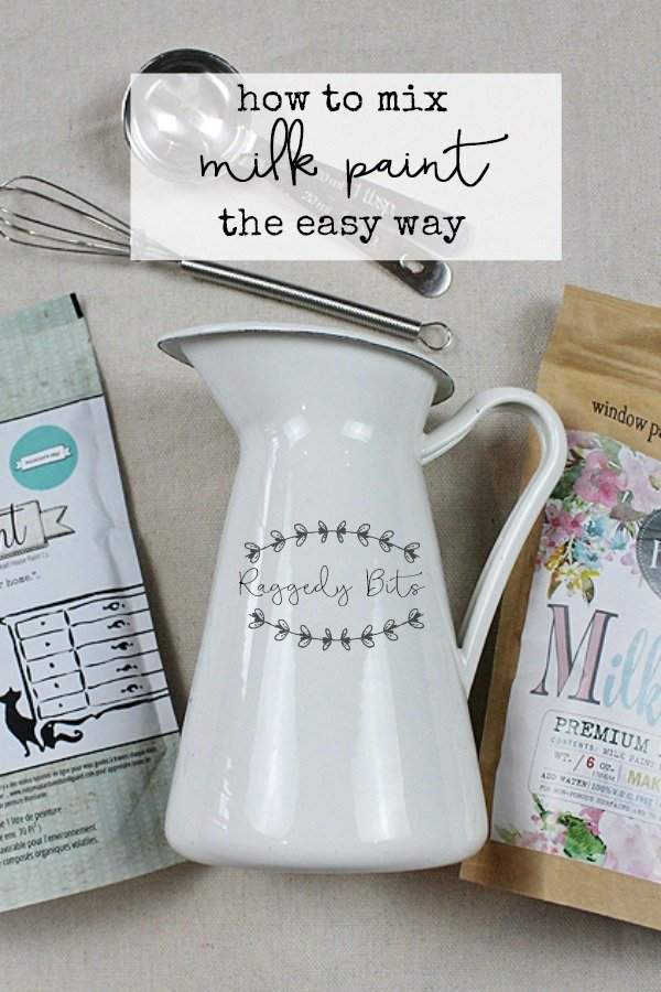 Sharing for Quick Painting Tip Tuesday. How to Mix Milk Paint the Easy Way   www.raggedy-bits.con   #raggedybits #milkpaint #diy #paint #mmsmilkpaint #spmilkpaint #farmhouse #vintage
