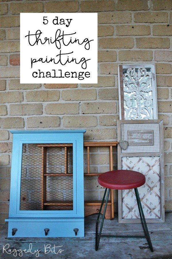 Come along and join us for a fun 5 Day Thrifting Painting Challenge. Where I share different ways you can give thrifted items or items around your home a new lease on life | www.raggedy-bits.com | #raggedybits #5daychallenge #paint #thrifted #farmhouse #vintage #fusionmineralpaint #sweetpickinsmilkpaint #mmsmilkpaint #diy