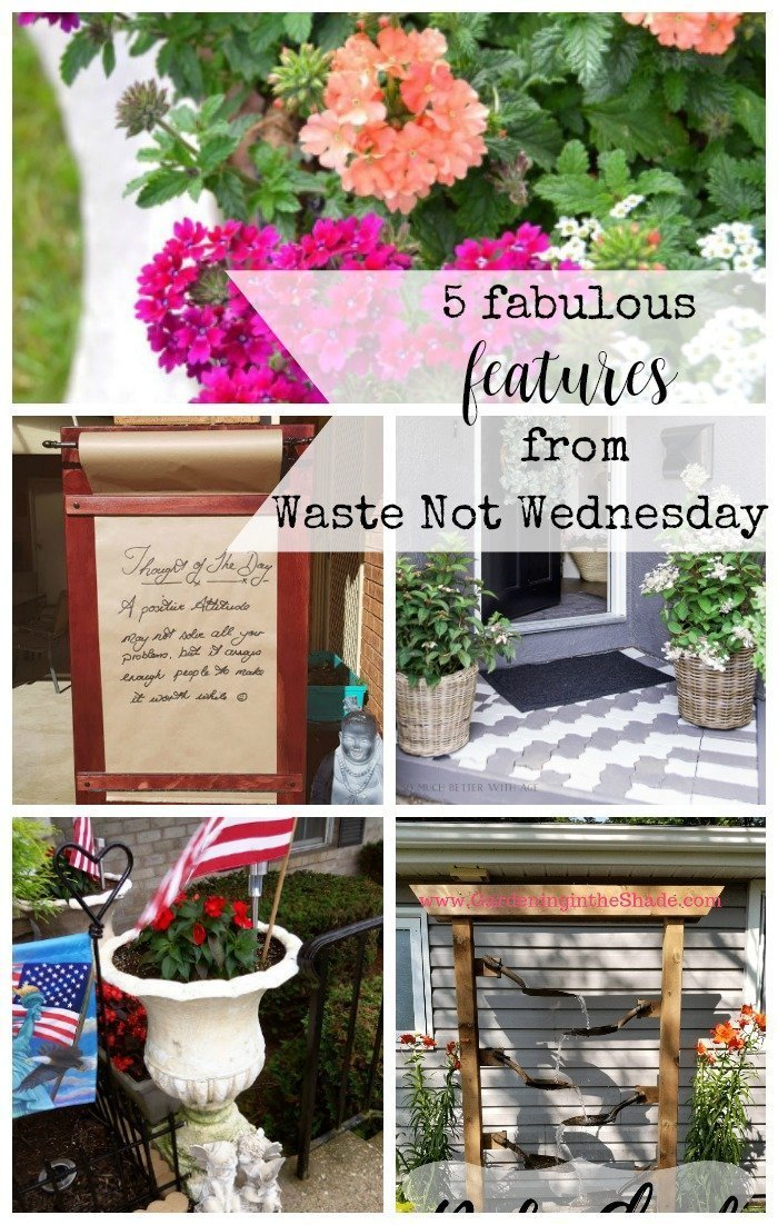 Features from our fun Waste Not Wednesday-164 DIY, Craft, Home Decor and Recipe party this week! Be sure to join us and share your DIY, Craft, Home Decor and favourite recipes! | www.raggedy-bits.com | www.salvagesisterandmister.com | www.faeriesandfauna.com | #WasteNotWednesday #DIY #HomeDecor #Craft #Recipes