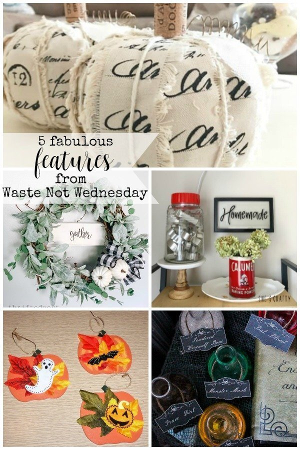 Features from our fun Waste Not Wednesday-173 DIY, Craft, Home Decor and Recipe party this week! Be sure to join us and share your DIY, Craft, Home Decor and favourite recipes!   www.raggedy-bits.com   www.salvagesisterandmister.com   www.faeriesandfauna.com   #WasteNotWednesday #DIY #HomeDecor #Craft #Recipes