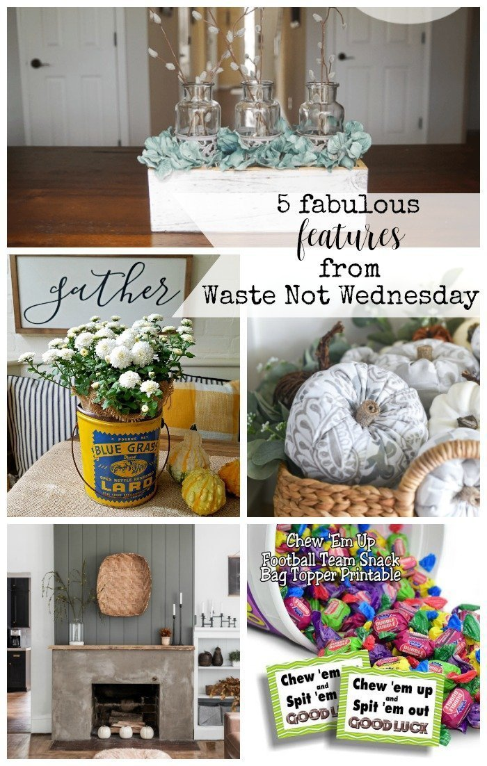 Features from our fun Waste Not Wednesday-174 DIY, Craft, Home Decor and Recipe party this week! Be sure to join us and share your DIY, Craft, Home Decor and favourite recipes! | www.raggedy-bits.com | www.salvagesisterandmister.com | www.faeriesandfauna.com | #WasteNotWednesday #DIY #HomeDecor #Craft #Recipes