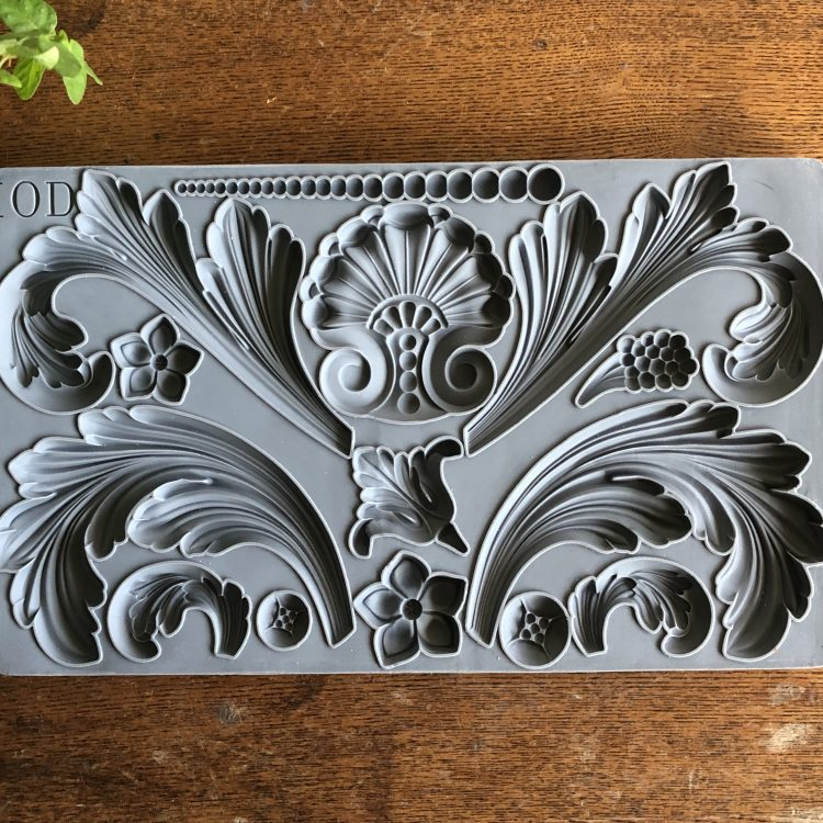 Have fun adding texture to your projects with these Iron Orchid Designs Decor Moulds -Acanthus Scroll | www.raggedy-bits.com | #raggedybits #IOD #AcanthusScroll #texture #DIY #Moulds