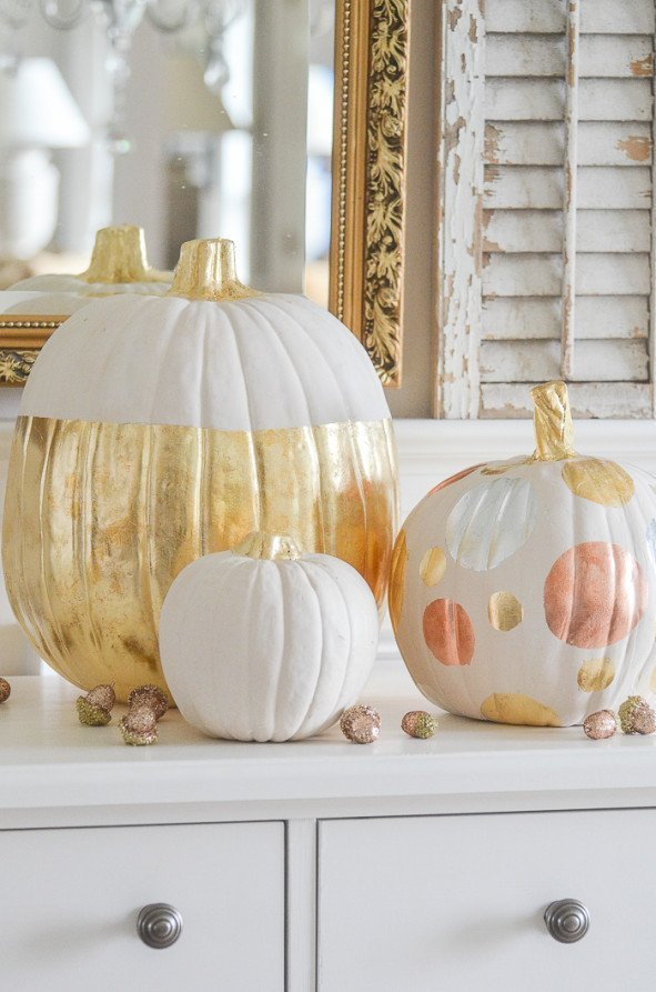 Add A Bit Of Bling To Your Pumpkins which is a feature for Waste Not Wednesday-177 by Stone Gable | www.raggedy-bits.com
