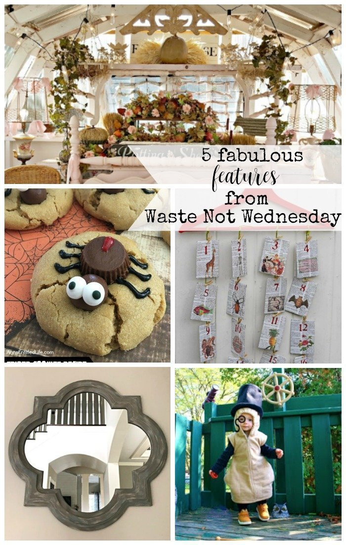 Features from our fun Waste Not Wednesday-179 DIY, Craft, Home Decor and Recipe party this week! Be sure to join us and share your DIY, Craft, Home Decor and favourite recipes!   www.raggedy-bits.com   www.salvagesisterandmister.com   www.faeriesandfauna.com   #WasteNotWednesday #DIY #HomeDecor #Craft #Recipes