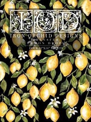 Iron Orchid Designs - Lemon Drops Decor Transfer | www.raggedy-bits.com | #raggedybits #diy #paintedfurniture #decortransfer #iod
