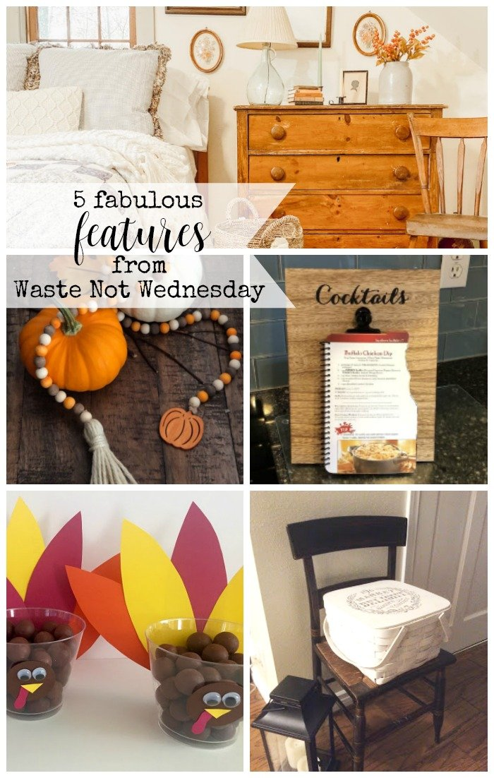 Features from our fun Waste Not Wednesday-181 DIY, Craft, Home Decor and Recipe party this week! Be sure to join us and share your DIY, Craft, Home Decor and favourite recipes! | www.raggedy-bits.com | www.salvagesisterandmister.com | www.faeriesandfauna.com | #WasteNotWednesday #DIY #HomeDecor #Craft #Recipes