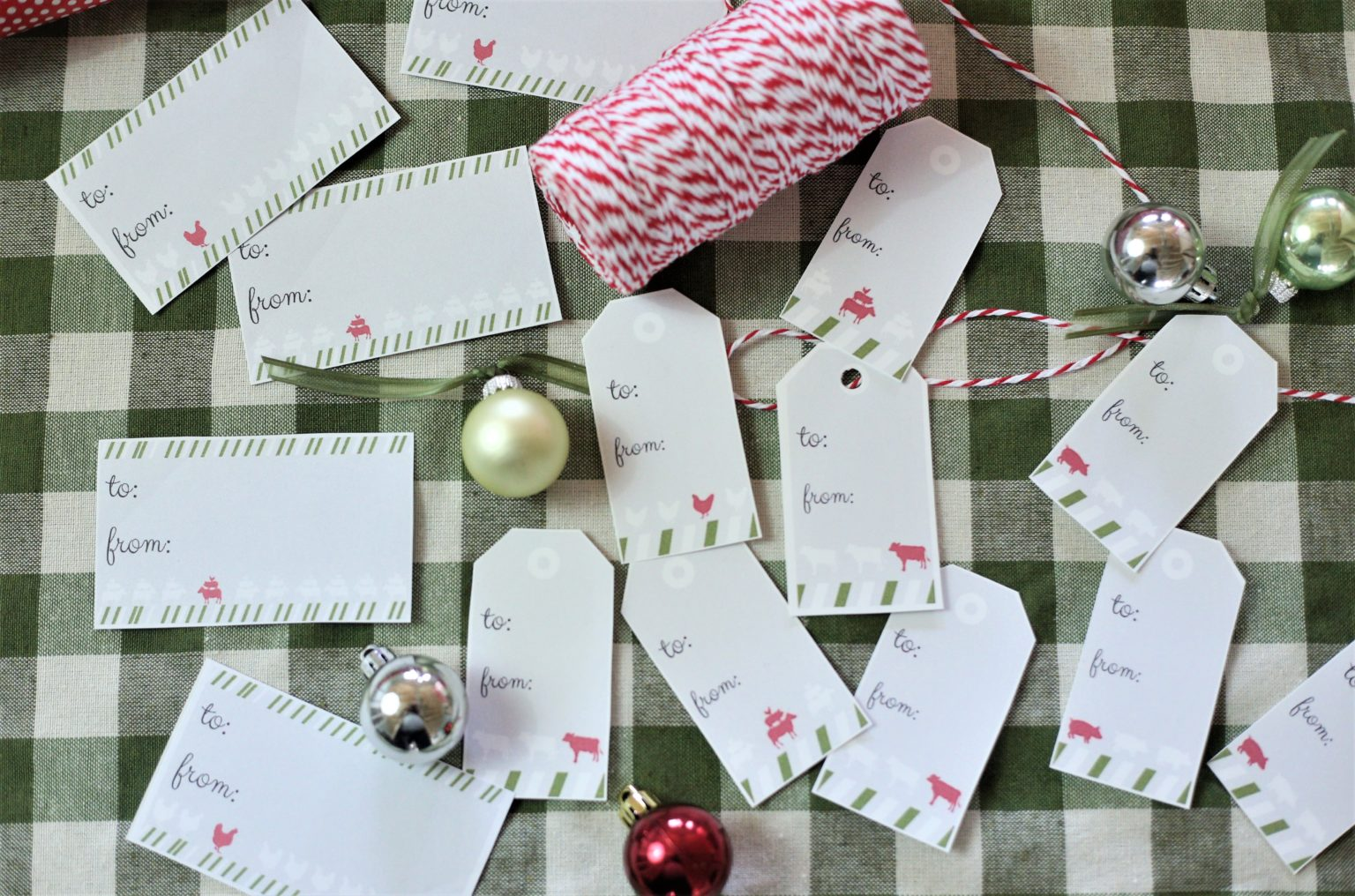 Free Printable Christmas Tags which is a feature for Waste Not Wednesday-186 by The Everyday Farmhouse | www.raggedy-bits.com