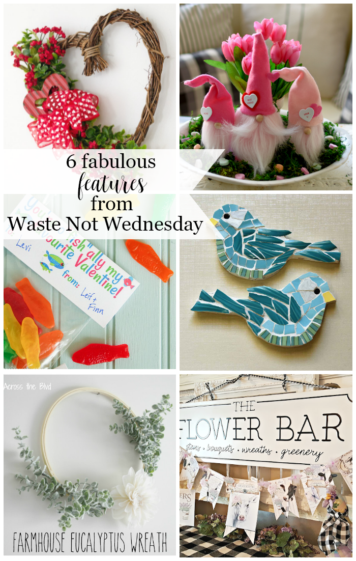 Features from our fun Waste Not Wednesday-190 DIY, Craft, Home Decor and Recipe party this week! Be sure to join us and share your DIY, Craft, Home Decor and favourite recipes! | www.raggedy-bits.com | www.salvagesisterandmister.com | www.faeriesandfauna.com | #WasteNotWednesday #DIY #HomeDecor #Craft #Recipes