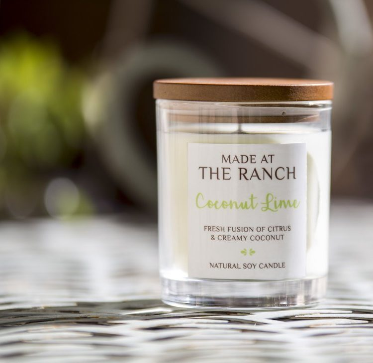 Get your senses going with this delicious Coconut Lime Soy Candle | www.raggedy-bits.com | #raggedybits #soycandles #homedecor #vintage #farmhouse