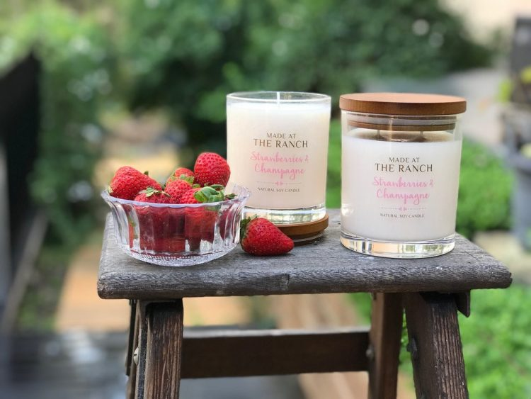 Get your senses going with this delicious Strawberries & Champagne Soy Candle | www.raggedy-bits.com | #raggedybits #soycandles #homedecor #vintage #farmhouse
