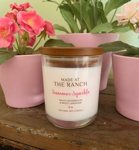 Get your senses going with this delicious Summer Sparkle candle | www.raggedy-bits.com | #raggedybits #soycandles #homedecor #vintage #farmhouse