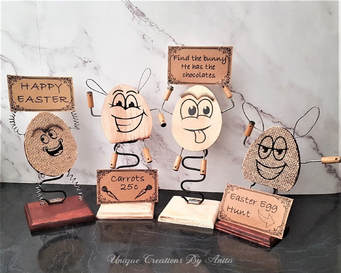 Int Bloggers Club - Fun Rustic Easter Decorations | www.raggedy-bits.com