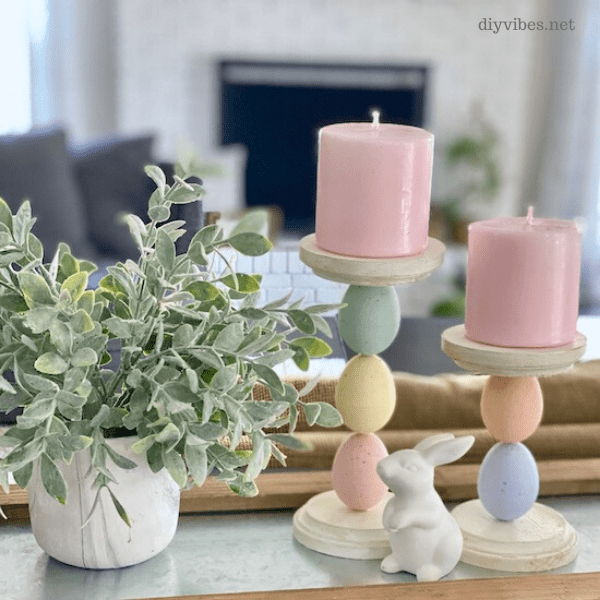 DIY Easter Egg Candle Holders which is a feature for Waste Not Wednesday-196 by DIY Vibes | www.raggedy-bits.com