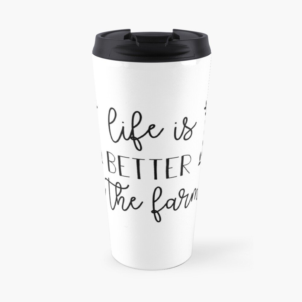 Have your next coffee in style with this Farmhouse Life Is Better On The Farm Coffee Mug | www.raggedy-bits.com | #raggedybits #coffee #coffeemug #coffeebar #homedecor #farmhouse