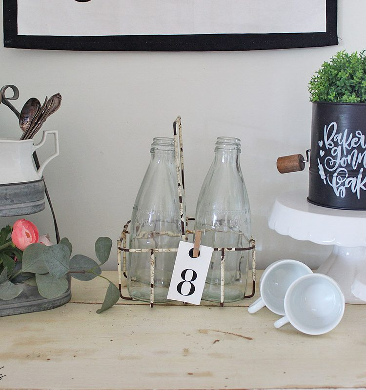 Sharing a fun way on how to Upcycle a Farmhouse Sifter using Fusion Mineral Paint and a stencil   www.raggedy-bits.com   #raggedybits #upcycle #diy #farmhouse #repurpose #vintage #floursifter