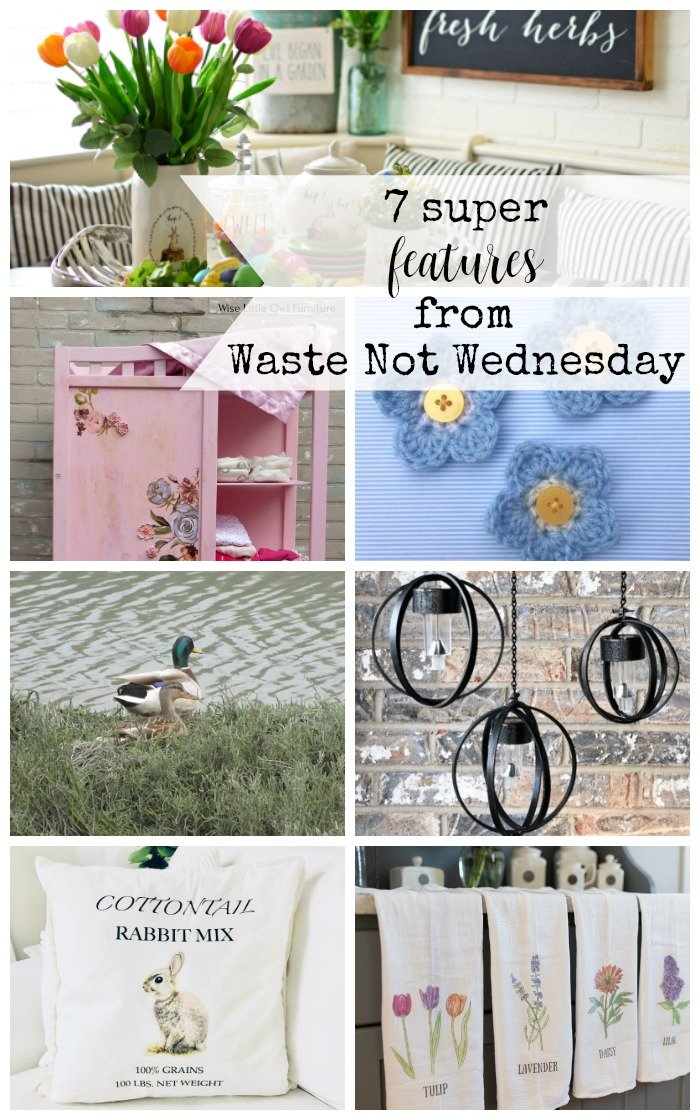 Features from our fun Waste Not Wednesday-199 DIY, Craft, Home Decor and Recipe party this week! Be sure to join us and share your DIY, Craft, Home Decor and favourite recipes!   www.raggedy-bits.com   www.faeriesandfauna.com   #WasteNotWednesday #DIY #HomeDecor #Craft #Recipes