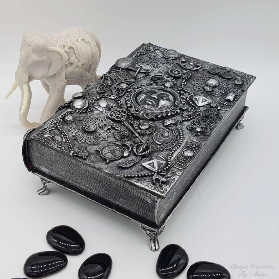 Int Bloggers Club - Book Repurposed Into A Jewellery Box | Anita's Unique Creations | www.raggedy-bits.com