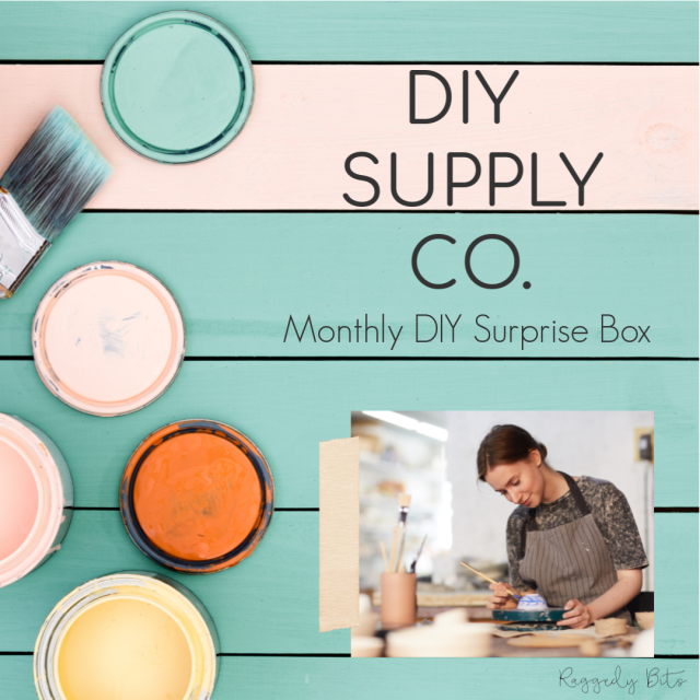 DIY Supply Co. is a monthly subscription box with all supplies needed to complete 3 projects | www.raggedy-bits.com | #raggedybits #DIY #homedecor #decorate #farmhouse #vintage