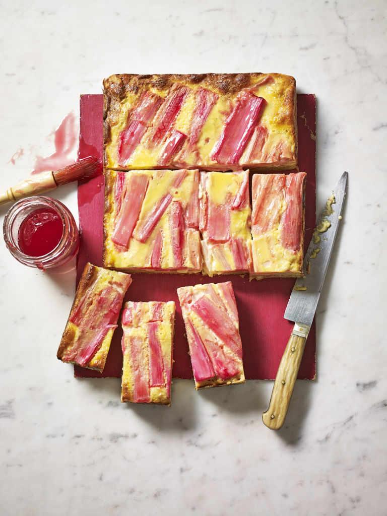 Rhubarb & Custard Slice which is a feature for Waste Not Wednesday-205 by Claire Justine  | www.raggedy-bits.com